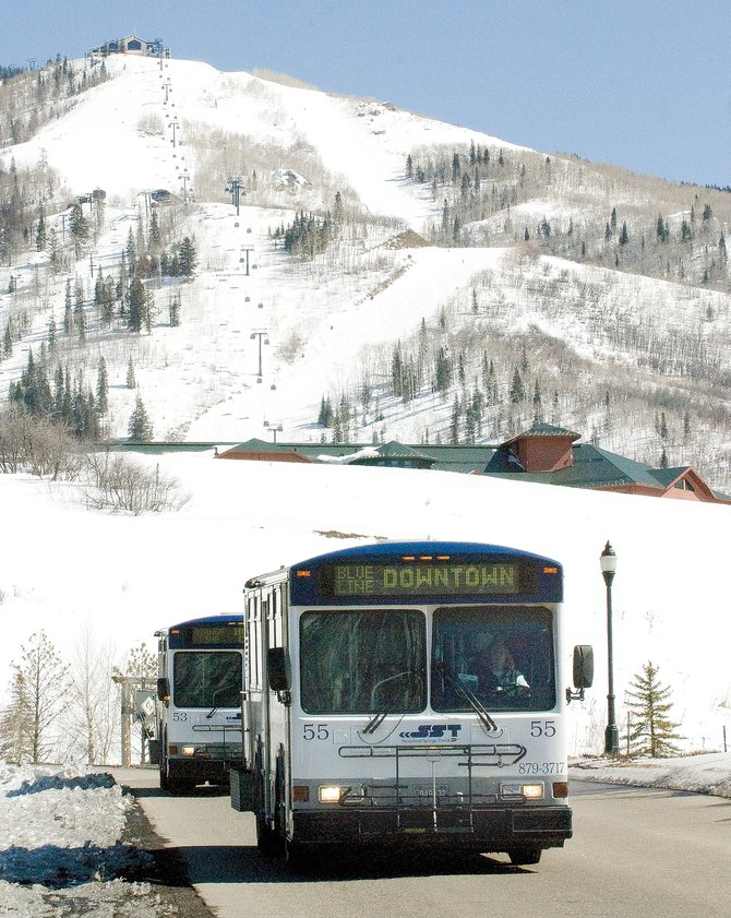 Last month, Steamboat Springs Transit free-to-rider buses carried 183,586 passengers. The number was just short of recording a 10th straight monthly record in February.