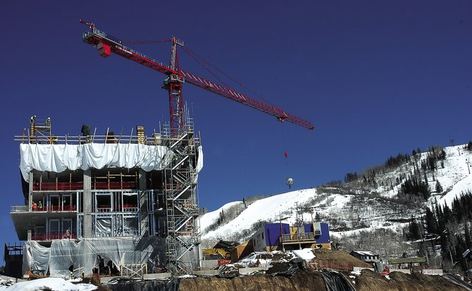 Construction on large multi-family projects such as Edgemont at the base of Steamboat Ski Area will continue in 2009, but as of Thursday, building department officials have received just three applications for new single-family home starts.
