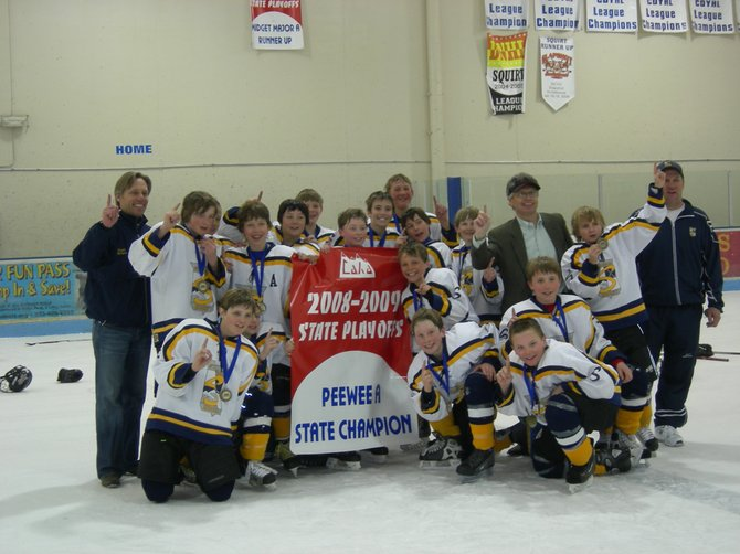 The Steamboat Pee-wee A hockey team capped a thrilling weekend Sunday with a 3-2 state championship win against Littleton PWA Black.