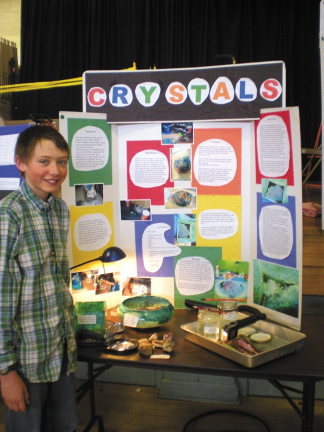 South Routt Elementary School fifth-grader Chandler Cruson was crowned Grand Champion of the school's recent science fair for third-, fourth- and fifth-graders. Chandler's project detailed the many variations of crystals, including some he grew himself.