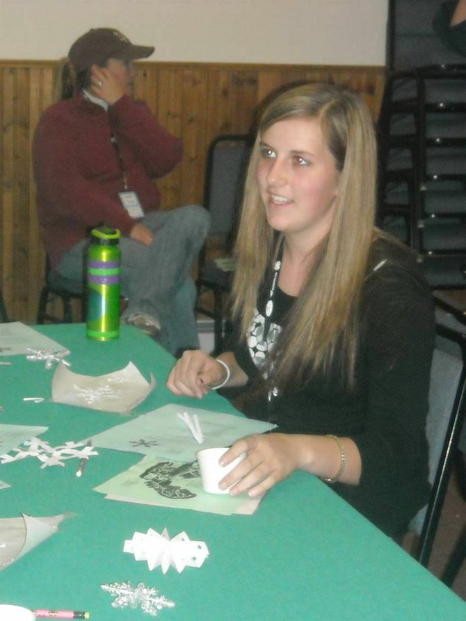 Karissa Maneotis recently participated in the Snowflake and Suncatchers Workshop during the 16th Annual 4-H District Retreat at YMCA of the Rockies. Twenty-seven 4-H members from Moffat County attended the retreat.