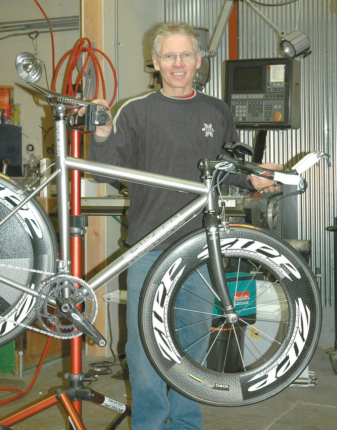 Kent Eriksen, of Kent Eriksen Cycles, recently won first place for his titanium bicycle frames at a national bike show. Eriksen is one of the pioneers of mountain bikes and has been building custom cycles in Steamboat for almost 30 years.
