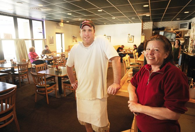 Sharon Stone is teaming up with Chris Hebrank, who, along with his family, owns Pisa's Pizza and Pasta in Riverside Plaza, to serve breakfast. Stone, who is calling her new operation Sharon's at Pisa's, has been in the restaurant business in Steamboat for more than 20 years.