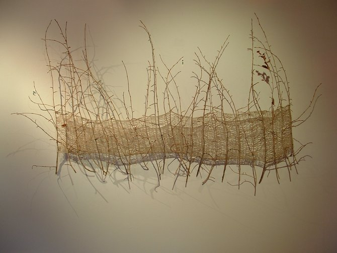 Beth Banning's fiber art sculptures are on display now at K. Saari Gallery as part of an all-gallery show that runs through May 24.