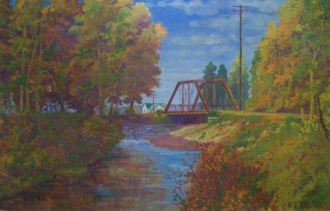 Fortification Creek Bridge in Craig, painted by Pete Kremer.