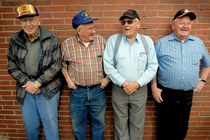 Craig Lions Club members, from left, Marvin Pearson, Stu Nadler, Al Shepherd and Jim Meineke have spent numerous years working together in the club. The foursome has been working with the 9News Health Fair, a Lions Club sponsored event scheduled for today, for the past 30 years.
