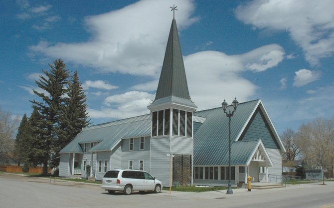 The Hayden Congregational Church, at 202 E. Jefferson Ave., was built in a Victorian style, architect Jan Kaminski told Hayden residents at a Historical Routt County discussion Tuesday. Kaminski said he thinks the church has historical significance but that it is tough to get churches on state and national historic registers.