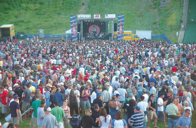 Steamboat Springs residents attend the free summer concert featuring Michael Franti and Spearhead on July 18, 2008, at Howelsen Hill.