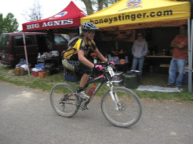 Kris Cannon won the women's solo division at the 18 hours of Fruita mountain bike race last weekend. Cannon, and several other riders, endured a mixture of weather conditions in the early season race held near Grand Junction.