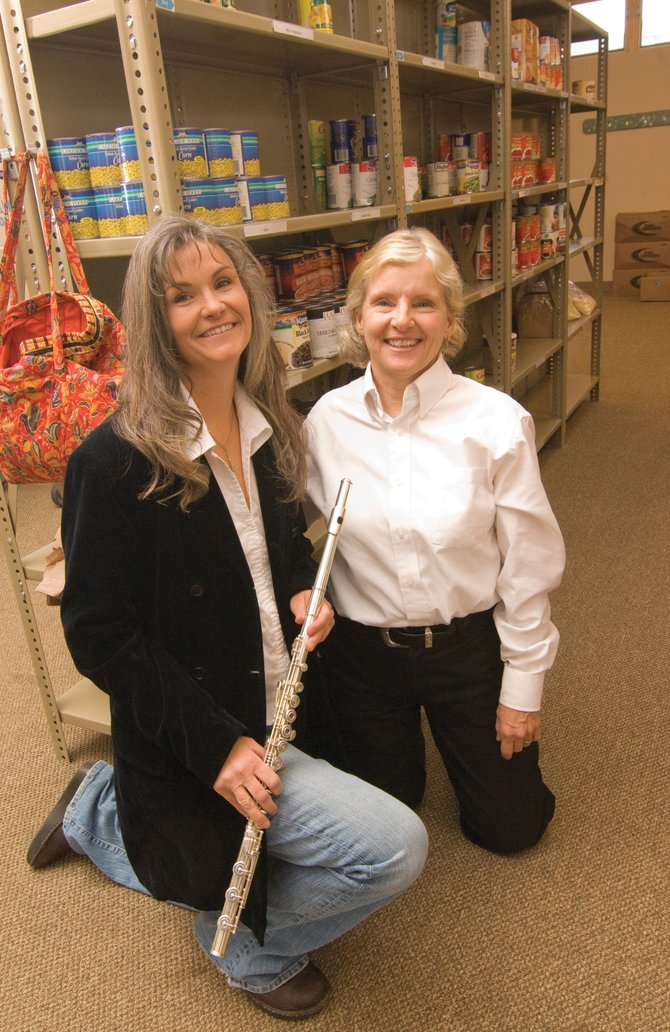 Singer Kathleen Allen, left, and flutist Belinda Rossi hope to entertain an audience during a performance at 3 p.m. Sunday at the St. Paul's Episcopal Church. Pianist Kevin Kennedy also will join the group for the show, which benefits LIFT-UP of Routt County.