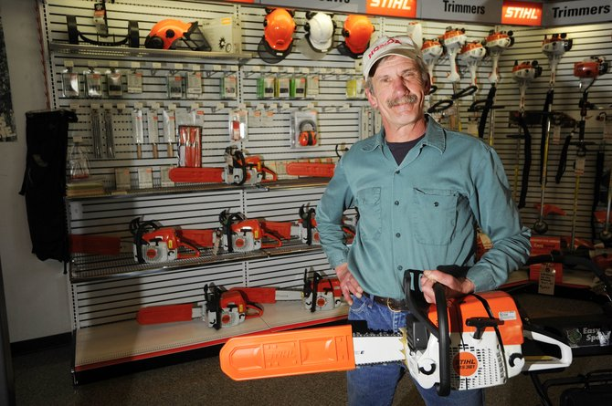 The Rocky Mountain Youth Corps used federal stimulus dollars to purchase 20 chain saws from Precision Sharpening and Repair Service owner Jim Pavlik. He said it allowed him to increase his inventory and that he was encouraged by seeing stimulus funds being put to work locally.