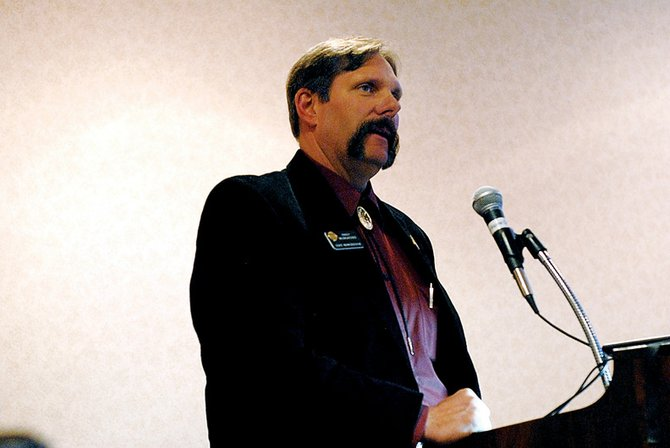 State Rep. Randy Baumgardner, R-Hot Sulphur Springs, spoke Friday about his struggles and lessons learned in his first legislative session during the Fueling Thought Energy Summit 2009. Baumgardner was joined by Sen. Al White, R-Hayden, Senate Minority Leader Josh Penry, R-Grand Junction, and Rep. Frank McNulty, R-Highlands Ranch, at the discussion.