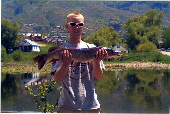 Drew Jenrich of Steamboat Springs was fly fishing for trout at Casey's Pond on Thursday when he hooked a northern pike measuring 31.5 inches.