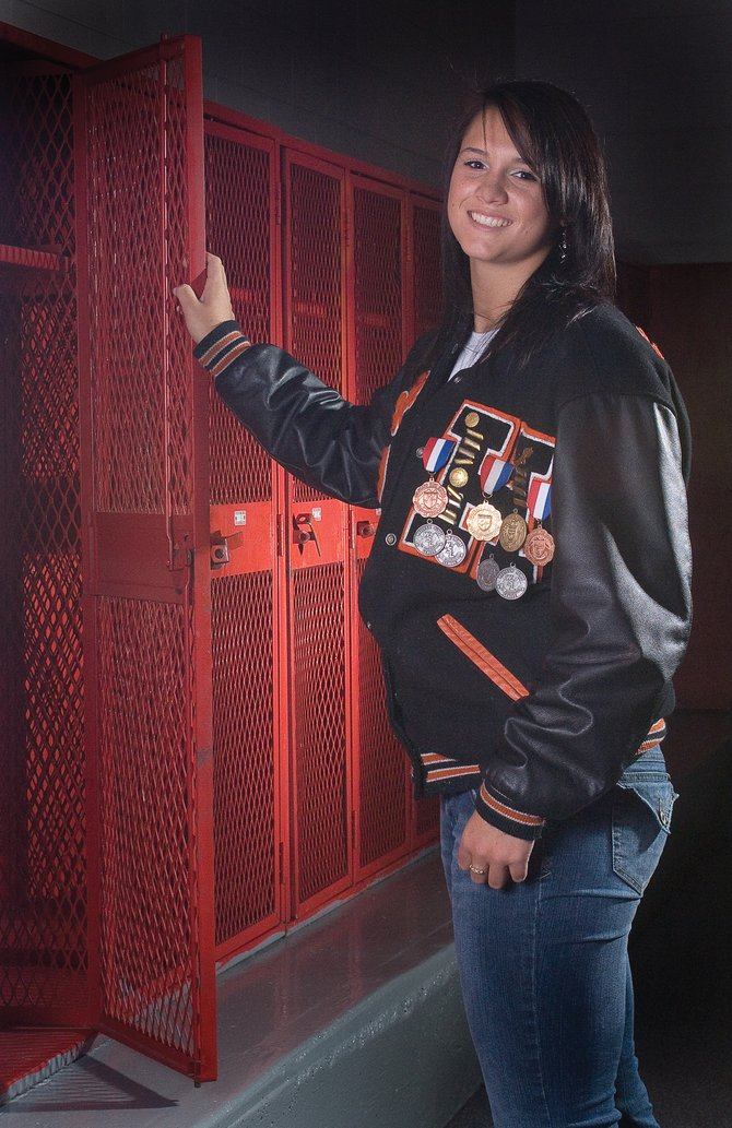 Hayden High School 2009 graduate Holli Salazar stood out in volleyball, basketball and track during her senior year as a Tiger. Salazar's efforts earned her the honor of Routt County Female Athlete of the Year from the <cite>Steamboat Pilot & Today</cite>.