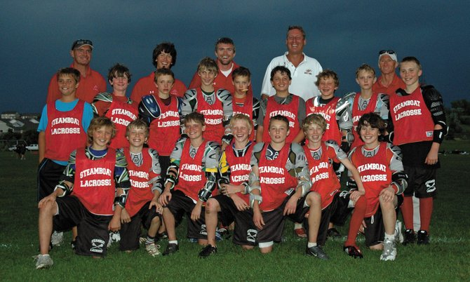 The Steamboat sixth-grade red lacrosse team celebrates after finishing second in the Warrior-Brine Rocky Mountain Lacrosse Jamboree during the weekend. The team lost, 3-2, in double overtime in the championship game. The tournament wrapped up the spring season for Steamboat Youth Lacrosse.