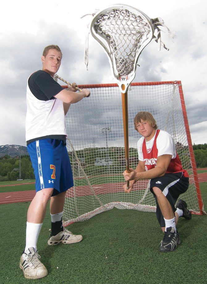 Steamboat Springs lacrosse players Gus Worden, left, and Jasper Gantick will be the first two Steamboat Springs athletes to go on to play college lacrosse.
