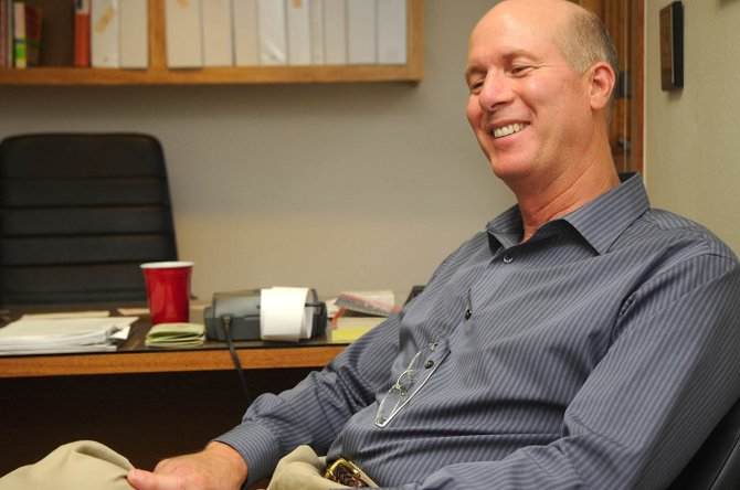 Steamboat Springs City Manager Jon Roberts talks about the response he has received from members of the community since returning to town after being in a sky diving accident Memorial Day weekend in California. Tuesday was Roberts' first full day back on the job.