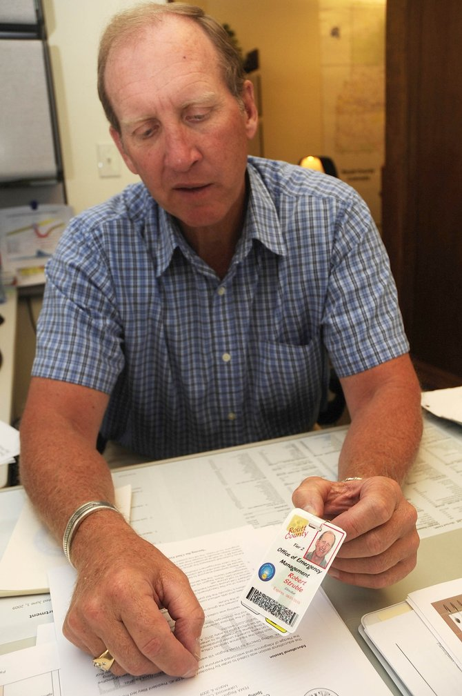 Routt County Director of Emergency Management Bob Struble talks about the identification cards being made for emergency responders.