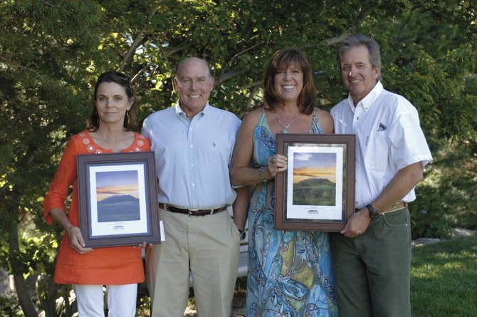 The Yampa Valley Community Foundation honored, from left, Janet and Tim Borden as individual Philanthropists of the Year for 2009, and Holiday Inn owners Lynne and Scott Marr as business Philanthropists of the Year for their charitable contributions.