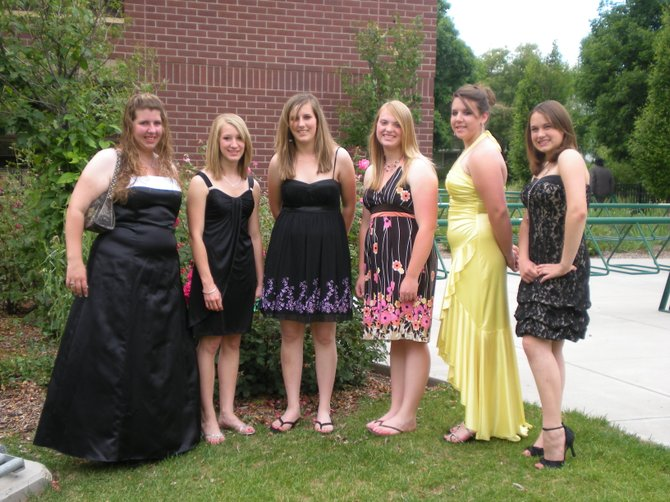 Local girls attended the 2009 State 4-H Conference, hosted June 23 through 26 at Colorado State University in Fort Collins. From left are Ashley Summers, Abbie Reid, Karissa Maneotis, Makayla Goodnow, Miranda Blomquist and Emily Wellman.