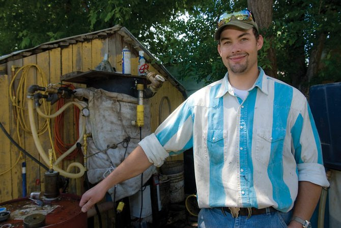 Wesley Musgrave has been making his own biodiesel for a year in the backyard of his Craig home. Musgrave uses waste grease from local restaurants and turns it into fuel for his truck.