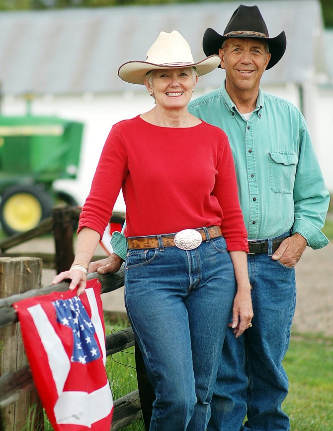 Marsha and John Daughenbaugh will be the grand marshals of the Fourth of July Parade today in Steamboat Springs. The parade starts at 10 a.m. along Lincoln Avenue. The theme is 'Steamboat Seasons : Celebrating the Beauty.'