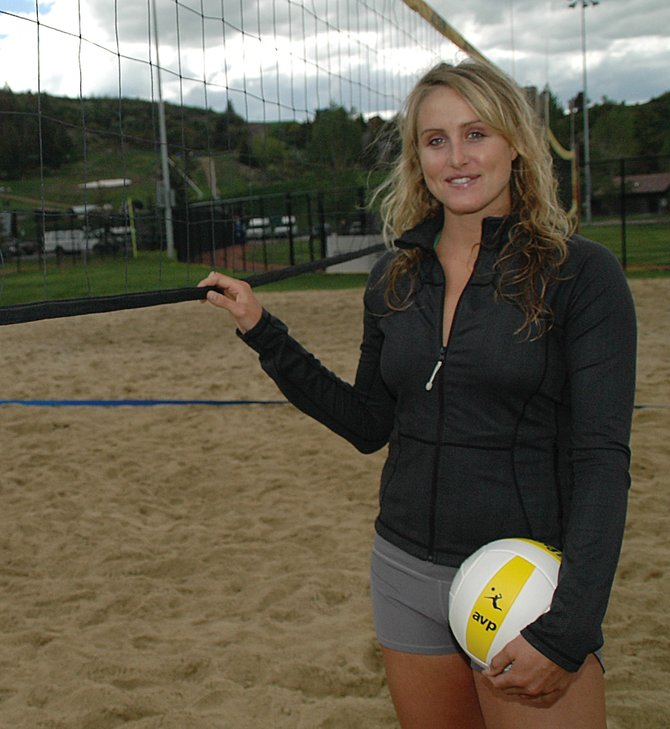 Former SSHS volleyball star Katie Carter, back from two years of playing professionally in Spain, is now trying to make her way on the pro beach volleyball scene.