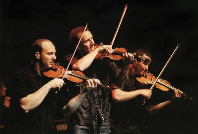 Canadian fiddle family Leahy plays at the Strings Music Pavilion on Friday.