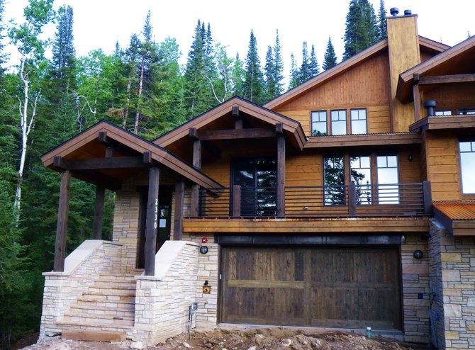 Construction of the new duplex at 2330 Val d' Isere Circle required the removal of 12,000 yards of dirt.
