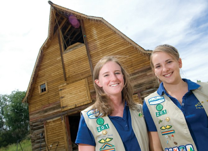 "Katherine Dodd, left, 18, and Adrienne Petch, 17, recently completed a video titled ""A Tribute to the Brave Homesteaders of Northwest Colorado."" The film, which used information gathered by Petch and Dodd from the Museum of Northwest Colorado and the Wyman Museum, was completed for their Girl Scouts Gold Award."