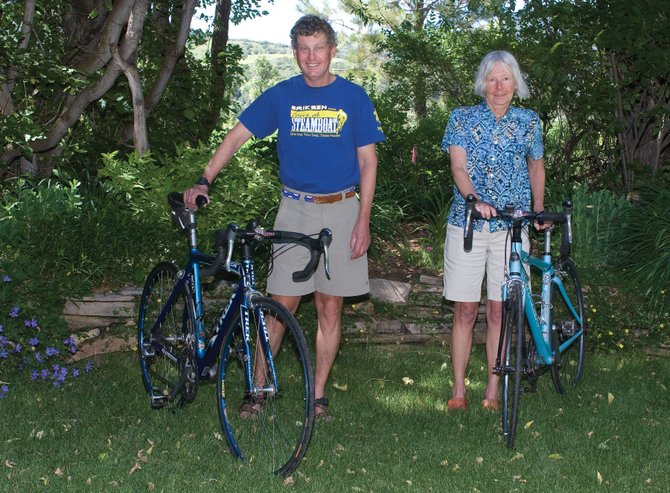 Steamboat Springs residents Steve Kelton and Pam Duckworth are taking part in the Tour de Wyoming. The tour will pass through Steamboat Springs on Monday night en route to Baggs, Wyo., as part of the six-day tour of Wyoming and northern Colorado.