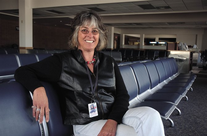 Hayden native Ann Copeland, who died Thursday night in a four-wheeling accident, is pictured in this May 8, 2007, photo at the Yampa Valley Regional Airport after a 21-year career at the airport.