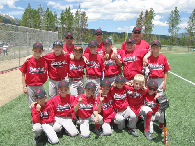 Steamboat's 9- and 10-year-old Little League All Star Team. This year's district champinship team included,  back row left to right, coaches Pat McElhiney,Craig  Pasternak and Greg Kmetz; middle row left to right,  Matthew Hansen, Zach Cooke,Ryan Sabia, Andrew McCawley, Robi Powers, Tucker Limberg, Channing Conner, and front row left to right, Payton McElhiney, Sean Patten, David LaPointe, McKenyon King, and Colton Pasternak, Jack McNamara and Davis Petersen.