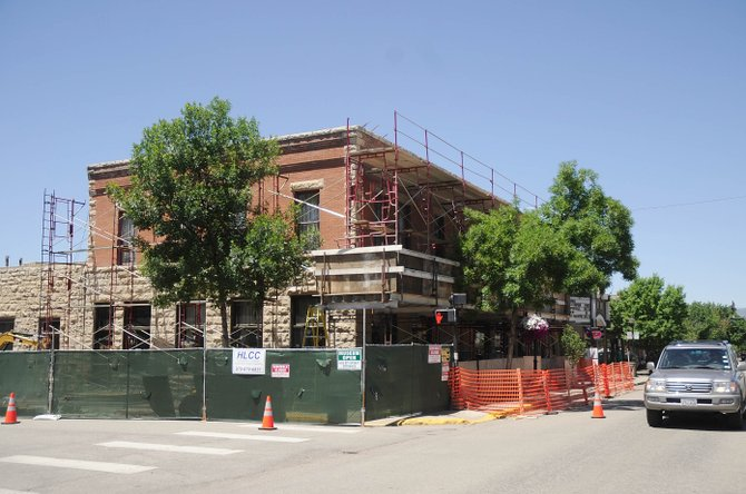 Construction started this week on restoration work of the historic Rehder Building in downtown Steamboat Springs. The city-owed building is home to the Steamboat Art Museum.