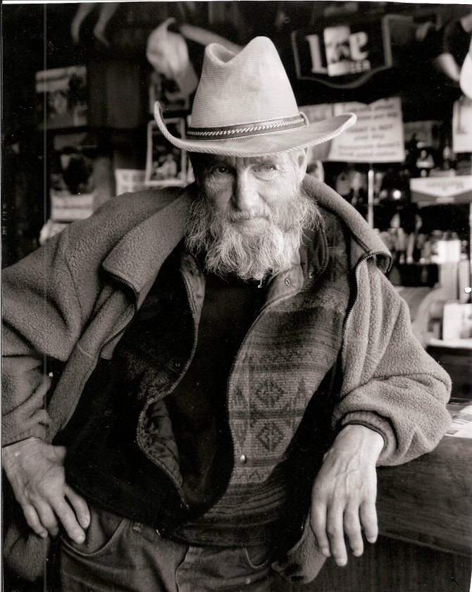 "Robert ""Cowboy Bob"" Matteson, pictured here in Oak Creek's Elk's Tavern, was thought to be the town's only homeless man. He died Sunday morning at age 63."