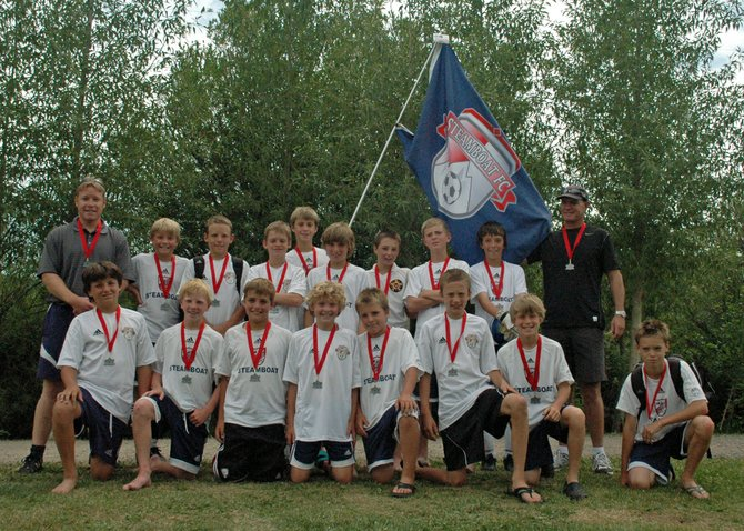 The Steamboat U12 boys soccer team played in the championship game of the Steamboat Mountain Soccer Tournament on Sunday. Steamboat lost to the Colorado Rush Advanced, 1-0, in the match.
