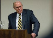 Bruce Benson gave a 20-minute speech at Tuesday's Rotary Club meeting about the state of higher education in Colorado. The University of Colorado has lost $50 million in state funding, with more cuts possible.
