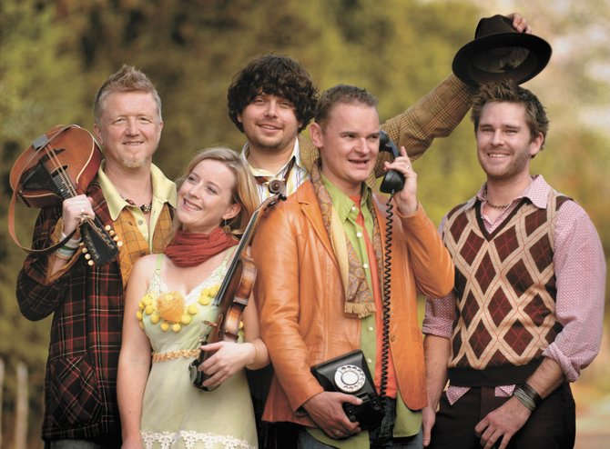 Irish rock band Gaelic Storm plays at 7 p.m. today at Strings Music Pavilion. The band's newest member, fiddle player Jessie Burns, second from left, is a former Steamboat Springs resident and musician.