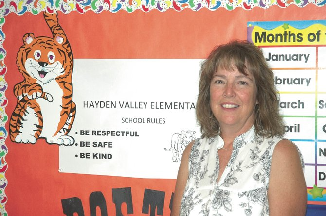 Christine Epp, a teacher at Hayden Valley Elementary School, was awarded a grant to continue her classroom program to send supplies to a tsunami-destroyed school in Gizo, Solomon Islands, which is west of Papua New Guinea.