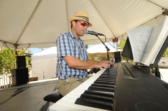 Local jazz pianist Andy Pratt performs Saturday at the All Arts Festival. The festival ends today.