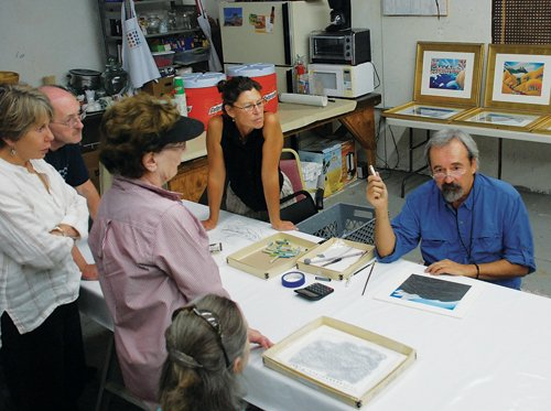 Artist Robert Dieckhoff explains his approach to the creative process during a Steamboat All Arts Festival seminar Friday.