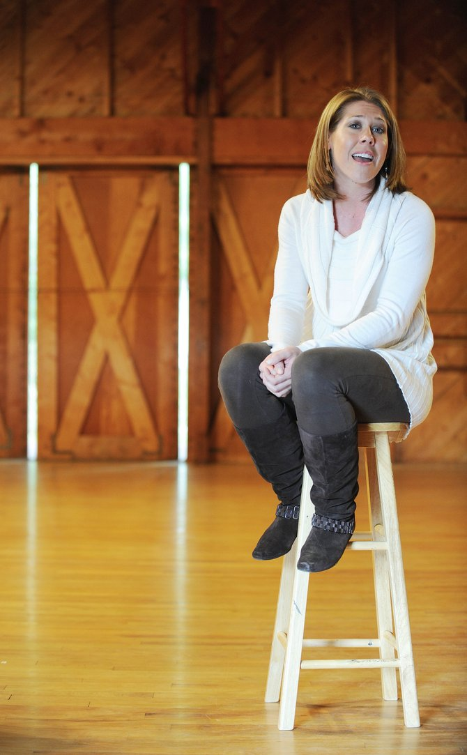 Angela Sapolis rehearses Wednesday at Perry-Mansfield Performing Arts School and Camp.