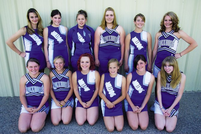 Coach Heather Higgins said the 2009 cheer team will have more cheers this year to pump up the crowd and team at football games. Pictured are, front row, from left, Marisa Johnson, Tawni Brenner, Chandra Griffin, Kristina McLeslie, Morgan Carrico, and Jasmine Higgins. Back row, from left are Jordan Porter, Ashley Wells, Kayla Swanson, Tiara Searle, Clara Thompson and Patience Terry.
