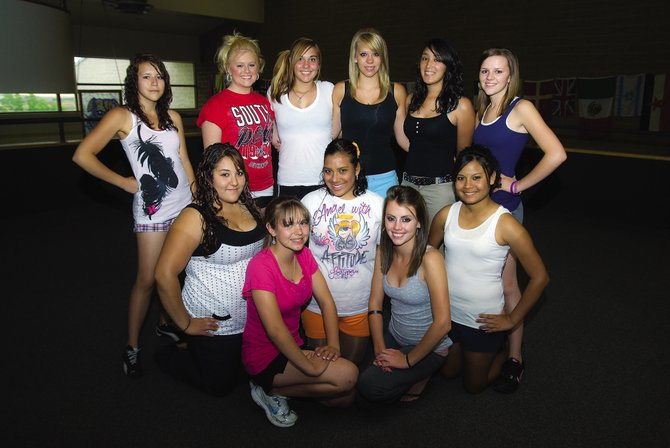 The 2009-10 Moffat County High School dance team will have all new routines for 2009. The dance team is, back row, from left, Abigail Landa, Andie Meckley, Amber Forquer, Chandler Arnette, Lili Torres and Taelor Stagner. Middle row, from left, is Candy Lopez, Zaide Duarte and Jasmira Valdez. Front row, from left, is Kayla Hall and Katy Nottingham.