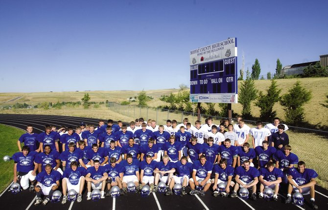 The 2009-10 Moffat County High School football team. This year's squad has 75 players, including 19 starters - 10 on offense and nine on defense.