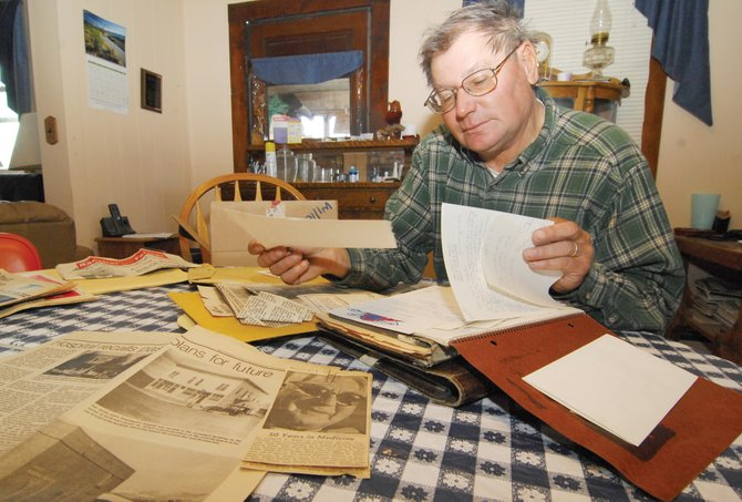 "Longtime local Jim Stanko goes through photos, scrapbooks and letters that belonged to one of Routt County's first doctors, Frederick Ewing ""Doc"" Willet. Stanko knew the notable Routt County medical pioneer better as his uncle Fred."