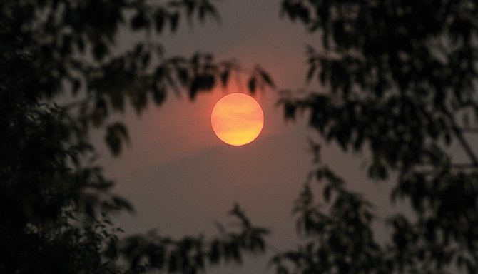 Fires in California and Utah made the sun appear red in the Steamboat Springs sky Monday evening. Eight fires in California, and another in Utah, have left the sky Steamboat hazy and have led to some unique sunsets.