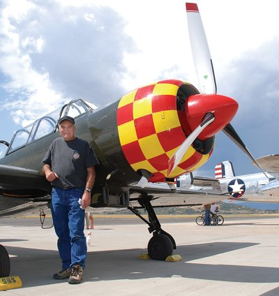 Bob Till, of Cody, Wyo., flew his Romanian-made  Yak-52 Model TW to Steamboat Springs on Friday morning to prepare for the Wild West Air Fest.