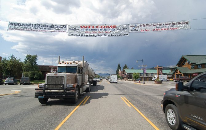 A banner over Lincoln Avenue advertises events in Steamboat Springs. The city has developed new framework for how it allocates money to community support organizations that include the Steamboat Springs Pro Rodeo Series, Mainstreet Steamboat Springs and the Steamboat Springs Chamber Resort Association.