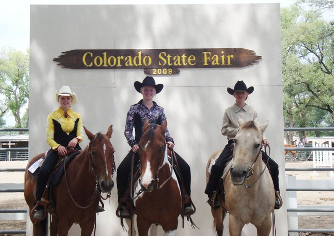 The Colorado State Fair was good to three girls from Routt County. From left, Alexis Len, 13, Mackenzie Holmberg, 13, and Lausanne Hillmuth, 11, won top honors in August in Pueblo.